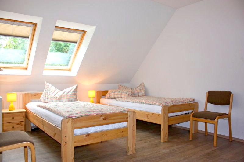 Haus Westerrönfeld - Zimmer 1 - Betten